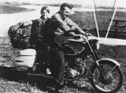 Robert Pirsig on his 1964 Superhawk