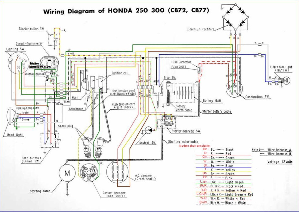 Wiring Diagram Honda Ex5 Dream : Honda forum view topic corrected cb wiring