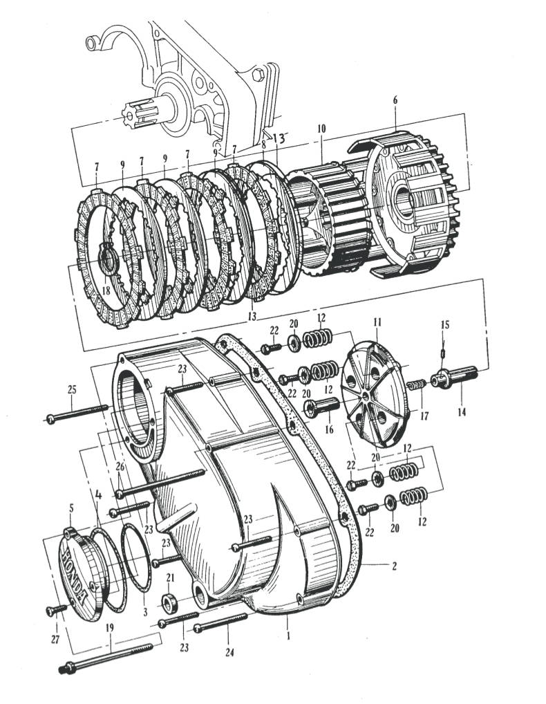 wiring diagram for honda cb77